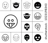 laugh icons. set of 13 editable ... | Shutterstock .eps vector #1023198343
