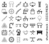 table icons. set of 36 editable ... | Shutterstock .eps vector #1023198367
