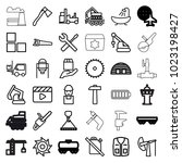 industry icons. set of 36... | Shutterstock .eps vector #1023198427