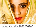 beautiful female model in hi... | Shutterstock . vector #1023204163