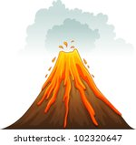 illustration of a volcano...