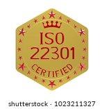 iso 22301 standard  societal... | Shutterstock . vector #1023211327