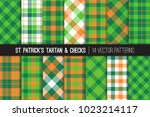 st patrick's day tartan vector...   Shutterstock .eps vector #1023214117