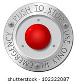 red stop button  vector sign | Shutterstock .eps vector #102322087