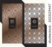 luxury cards. vector menu... | Shutterstock .eps vector #1023229447
