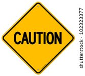 caution yellow sign | Shutterstock .eps vector #102323377