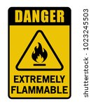 danger extremely flammable... | Shutterstock .eps vector #1023245503
