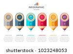 infographics template with... | Shutterstock .eps vector #1023248053