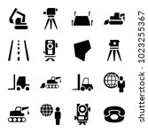 land icons. set of 16 editable... | Shutterstock .eps vector #1023255367