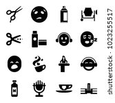 clipart icons set of 16