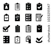 checklist icons. set of 16...   Shutterstock .eps vector #1023255547