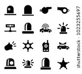 police icons. set of 16...   Shutterstock .eps vector #1023255697