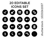 close icons. set of 20 editable ... | Shutterstock .eps vector #1023261037