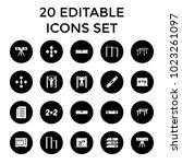 horizontal icons. set of 20...   Shutterstock .eps vector #1023261097