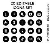 illness icons. set of 20...   Shutterstock .eps vector #1023261103