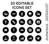 industry icons. set of 20... | Shutterstock .eps vector #1023261157