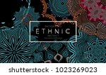 ethnic banners template with... | Shutterstock .eps vector #1023269023