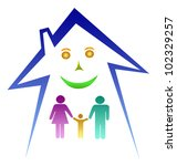 happy family in house | Shutterstock . vector #102329257