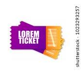 movie ticket  plane  train  etc. | Shutterstock .eps vector #1023293257