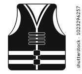 rescue vest icon. simple...   Shutterstock .eps vector #1023296257