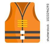 rescue vest icon. flat...   Shutterstock .eps vector #1023296293