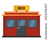 beer shop icon. flat... | Shutterstock .eps vector #1023296437