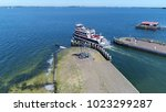 aerial photo tourist boat... | Shutterstock . vector #1023299287