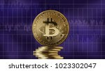 gold coin bitcoin and... | Shutterstock . vector #1023302047