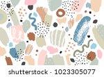 brush  marker  pencil stroke... | Shutterstock .eps vector #1023305077