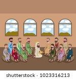 holy week biblical scene   Shutterstock .eps vector #1023316213