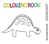 cute dino coloring book. | Shutterstock .eps vector #1023325657