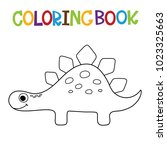 cute dino coloring book. | Shutterstock .eps vector #1023325663