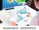 professional businesswoman... | Shutterstock . vector #1023329413