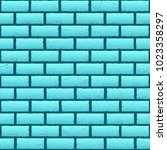 blue brick texture background.... | Shutterstock .eps vector #1023358297