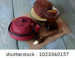 tea  brew and chocolate chip...   Shutterstock . vector #1023360157