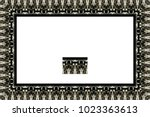 border or frame of abstract... | Shutterstock . vector #1023363613