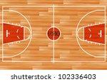 wooden parquet floor basketball ... | Shutterstock .eps vector #102336403