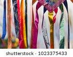 paraty street festival streamers | Shutterstock . vector #1023375433
