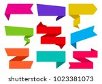 colorful set of different... | Shutterstock .eps vector #1023381073