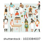 hand drawn vector abstract... | Shutterstock .eps vector #1023384037