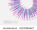 brochure template with halftone ... | Shutterstock .eps vector #1023384667