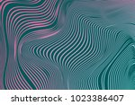 Wavy Stripes. Trendy Curve Lines Background. Abstract Background with Wavy Lines. Wavy Stripes for Web Design, Web Site, Wallpaper, Banner, Presentation, Cover. Futuristic Wavy Background. Modern. | Shutterstock vector #1023386407