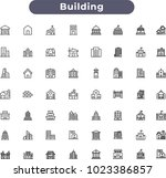 building icons set | Shutterstock .eps vector #1023386857