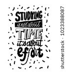 studying is not about time it's ... | Shutterstock .eps vector #1023388087