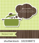 cookery card. vector illustration - stock vector