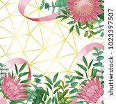 geometric background with... | Shutterstock .eps vector #1023397507