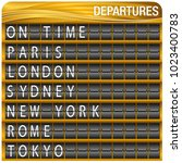 An Image Of A Gold Departures...