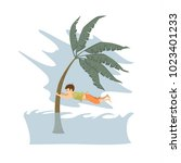 man trying to save life during... | Shutterstock .eps vector #1023401233