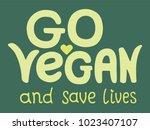 handwriting font with vegan... | Shutterstock .eps vector #1023407107