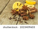 dried herbs and seasoning. star ...   Shutterstock . vector #1023409603